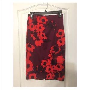 Zara floral pencil skirt NWOT XS